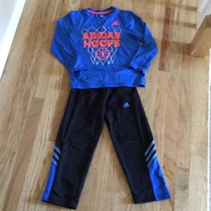 Adidas 2 piece outfit top size 7 bottom size 6